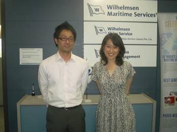 File Pictured: (l-r):Ryota Matsuo and Takamasa Mori Ships Agency Operators, WSS Japan.