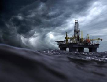 File Offshore rig in storm: File Image CCL
