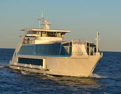 File Hornblower Hybrid, the first vessel powered by diesel, hydrogen, batteries, wind and solar energy.