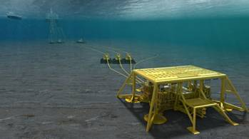 File Hyme field with a subsea template tied in to existing infrastructure on the Njord A platform: Image credit Statoil