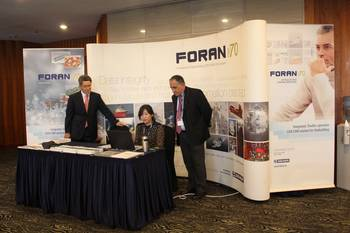 File Exhibition Area where SENER had a stand, in the Haeundae Grand Hotel, location of ICCAS 2013