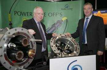File (L-R) Hydro Group MD Doug Whyte and Hydro Group Sales Director Graham Wilkie