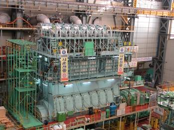 File View of the new 7G80ME-C9.2 engine on the testbed in Korea