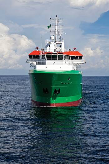 File Brazil-bound Platform Supply Vessel (PSV) is first of five to the STX SV290 design; Eastern-built, Cummins powered