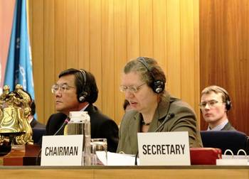 File MO Secretary-General Koji Sekimizu and SDC Chairman