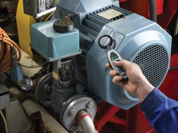 File Hand-held electrical discharge detectors can help assess the condition of operating motors. Photo: SKF USA Inc.