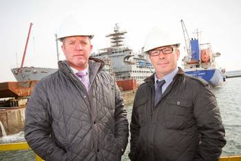File IPS directors Paul Smith & Peter Hillan at Cammell Laird