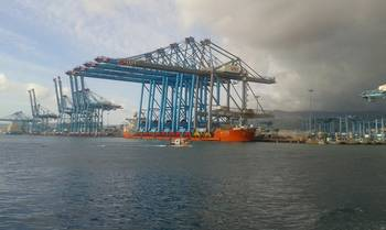 File The Zhen Hua 25 at berth in the Port of Alegciras (Credit ISS)