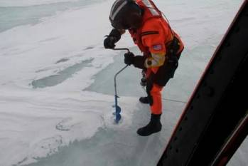 File Ice drilling: Photo credit USCG