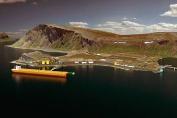 File Oil Terminal at Veidnes: Illustration courtesty of Statoil