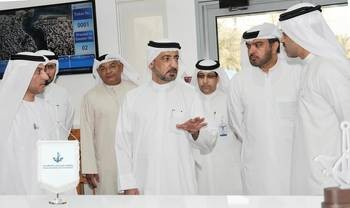 File H.E. Ahmed Butti, Executive Chairman of DMCA, during his visit to the new Customer Service Office.