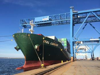 File ItalLunare docked at the Port of Boston