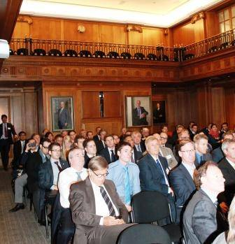 File InterManager members meet in the Old Library, Lloyd's of London, for their annual general meeting and seminar.