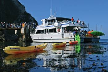 File Like her two sister ships, Island Packers new boat will haul passengers, campers, and kayaks to the Channel Islands National Park, but the new vessel will be even more versatile with configurable seating, cargo carrying capacity, and an extendable  knuckle crane.