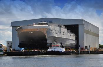 File JHSV 3 Launch: Photo credit Austal