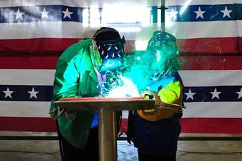 File JHSV 4 Welder, Austal USA Employee Doc Selvie and  Authenticator, Diane Patrick