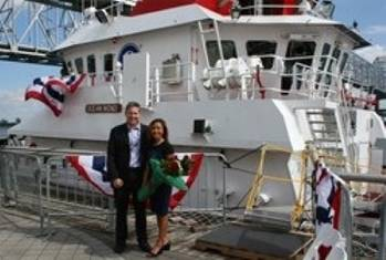 File Ray Martus with his wife Trish Martus: Photo courtesy of Jensen Maritime