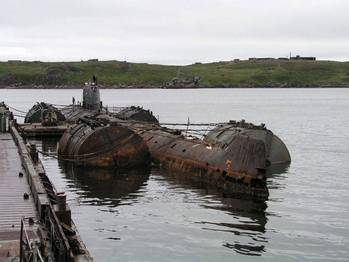File November-class Russian Submarine: Photo credit The Bellona Foundation CCL