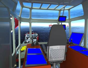 File The K-Sim Offshore simulator will feature detailed models of three HMC deepwater construction vessels.