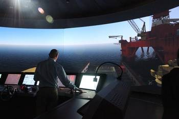 File Kongsberg Maritime simulators at Vestfold University College.