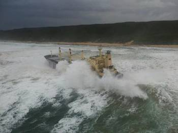 File Kiani Satu aground: Photo courtesy of NSRI