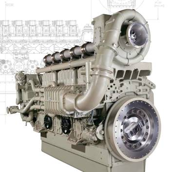 File L250 Marine Diesel Engine: Photo courtesy of GE Marine