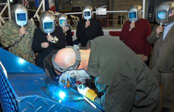 File Keel-laying ceremony: Photo courtesy of USN
