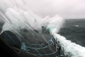 File LCS 3 in Atlantic Storm: Photo credit USN