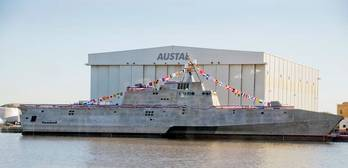 File LCS 4 Christening: Photo credit Austal USA