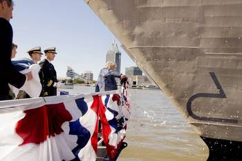 File Littoral Combat Ship CORONADO christened on January 14, 2012 during a ceremony at Austal USA in Mobile, Alabama.