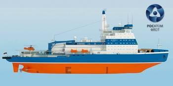File Icebreaker LK-60: Image credit Rosatomflot
