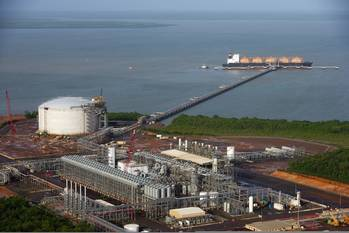 File LNG liquefaction plant: Photo credit CLNG