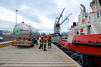 File LNG ship bunering in Europe: File photo
