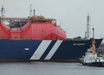 File LNG carrier docking: Image courtesy of AWILCO