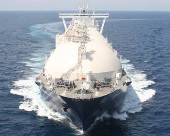 File LNG carrier: File photo cr. Gazprom