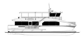 File 65' passenger catamaran for the Chemehuevi Transit Authority of Lake Havasu, California.