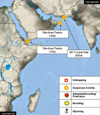 File Piracy Horn of Africa incident map courtesy of OPINTEL