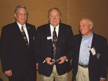 File Left to right: Byron Dunn, GSSC President; Larry Porter, and Ron Pierce, GSSC Chairman of the Board.