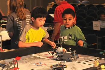File LEGO contestants: (U.S. Navy photo by Nicholas Malay/Released)