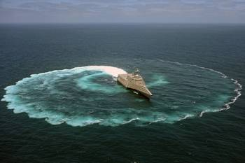 File LCS Sea Trial: Image courtesy of USN