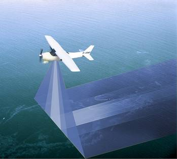 "File MSRC adds Ocean Imaging's remote sensing technology to its superior ""systems-based"" approach to oil spill response.  Shown here: Wide range aerial surveillance for day and night spill operations using infrared and multi-spectral sensing equipment (1Q2014)"