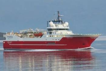 File Seismic survey ship Sanco Swift: Photo courtesy of the owners
