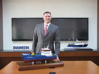 File Maarten Jongen, Managing Director of Damen Shipyards Singapore (DSSi).