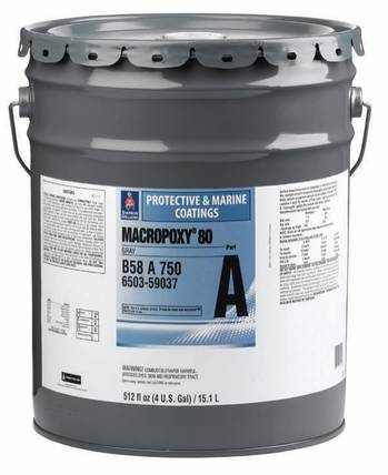 File Macropoxy 80; HAPs-free epoxy coating resists corrosion in marine and offshore applications.