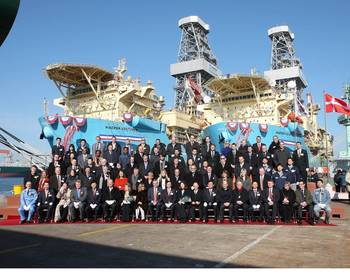 File Naming ceremony: Photo credit Maersk Drillijng