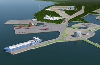 File Schematic of Manga LNG terminal courtesy of Wärtsilä