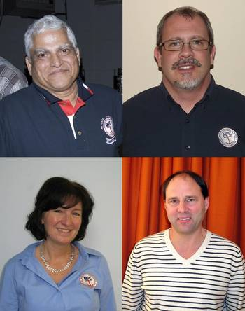 File Clockwise from top left: Dr. Manik S. Sardessai, Walter J. Putman, Jr., Timothy P. Schallhorn and Catherine Gibbons