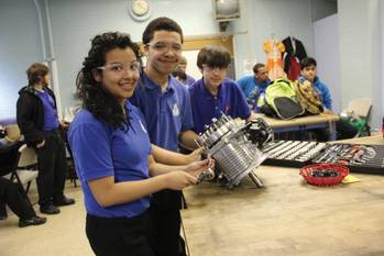 File Maritime Academy offers the only elective class in small engine repair which is unique to public school education in Philadelphia (Photo courtesy Maritime Charter High School in Philadelphia).
