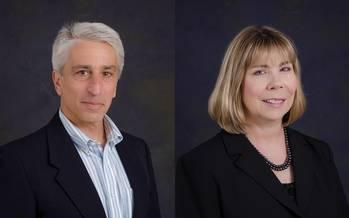 File Mark Miller (left) and Lisa Owen