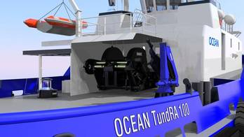 File Robert Allan designed TundRA 100 with Markey equipment. It will be built by Ocean Industries Inc.
